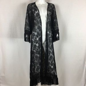 Forever 21 Black Lace Kimono